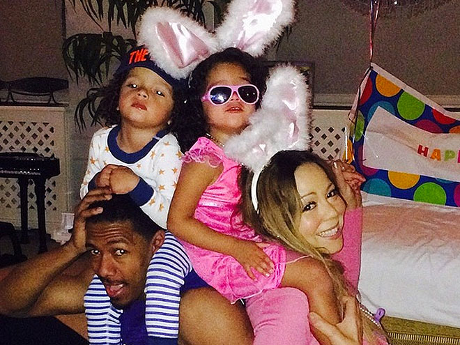 Mariah Carey, Moroccan Scott Cannon y Monroe, Nick Cannon