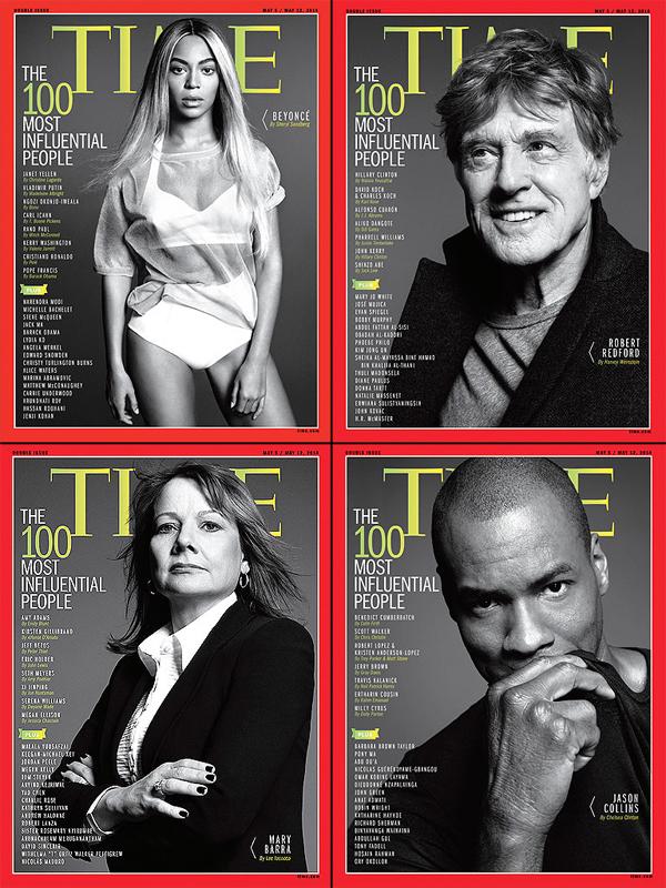 Las cuatro portadas de la revista Time