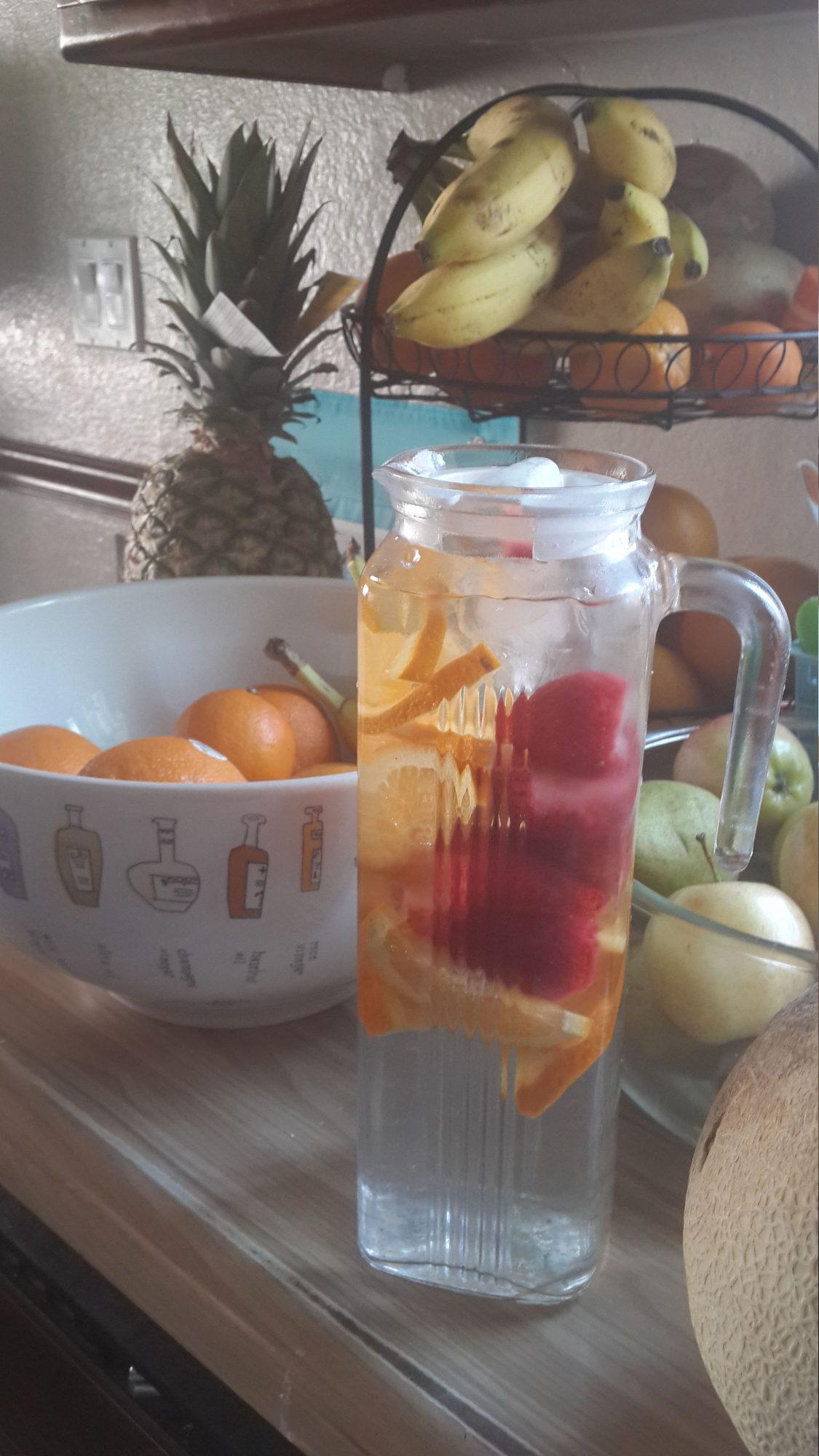 Agua fresca de naranja especial