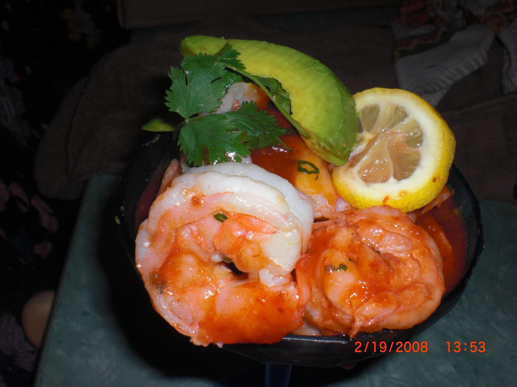 Coctel sencillo de camarón