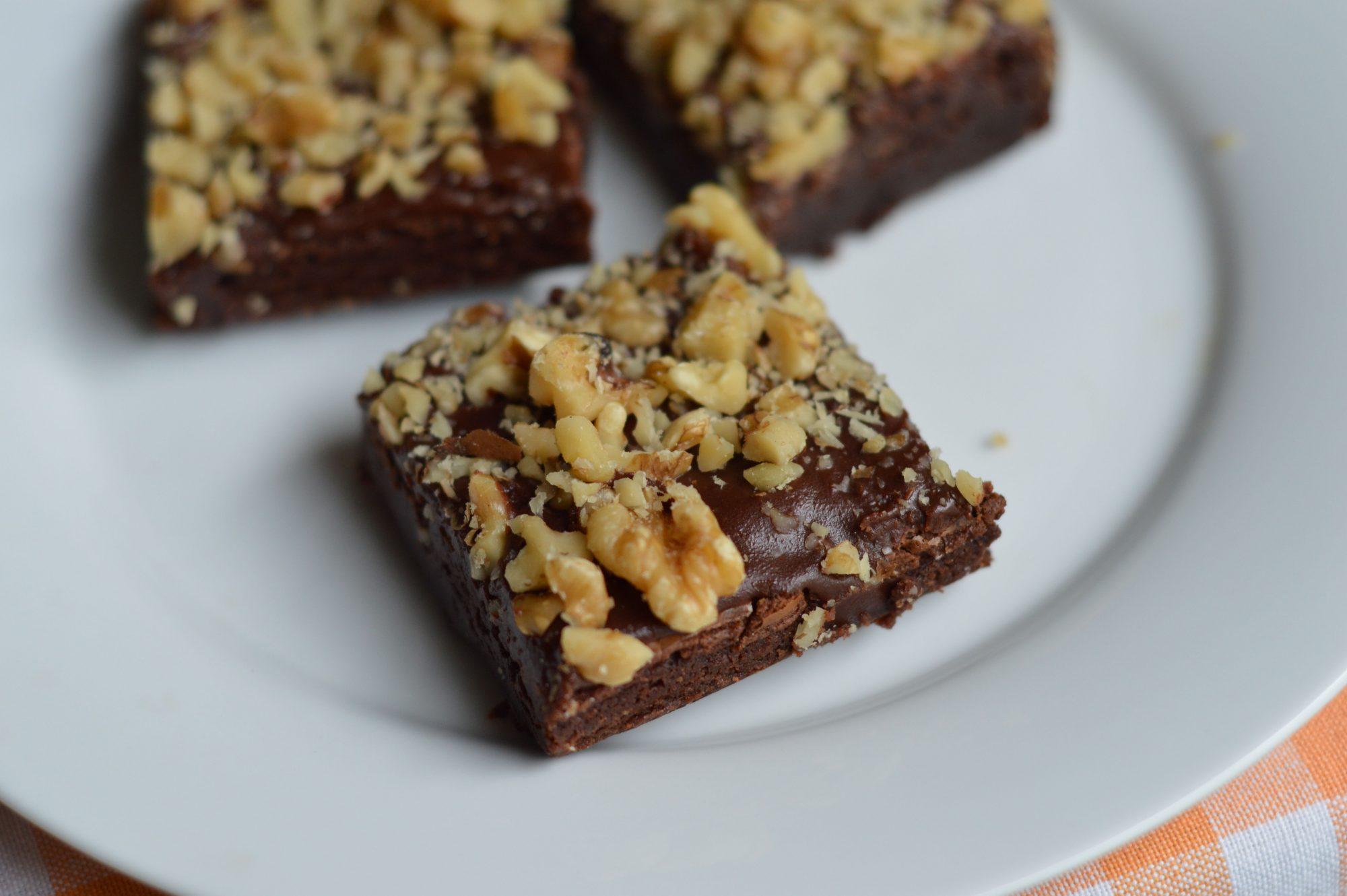 Brownies con glaseado de café