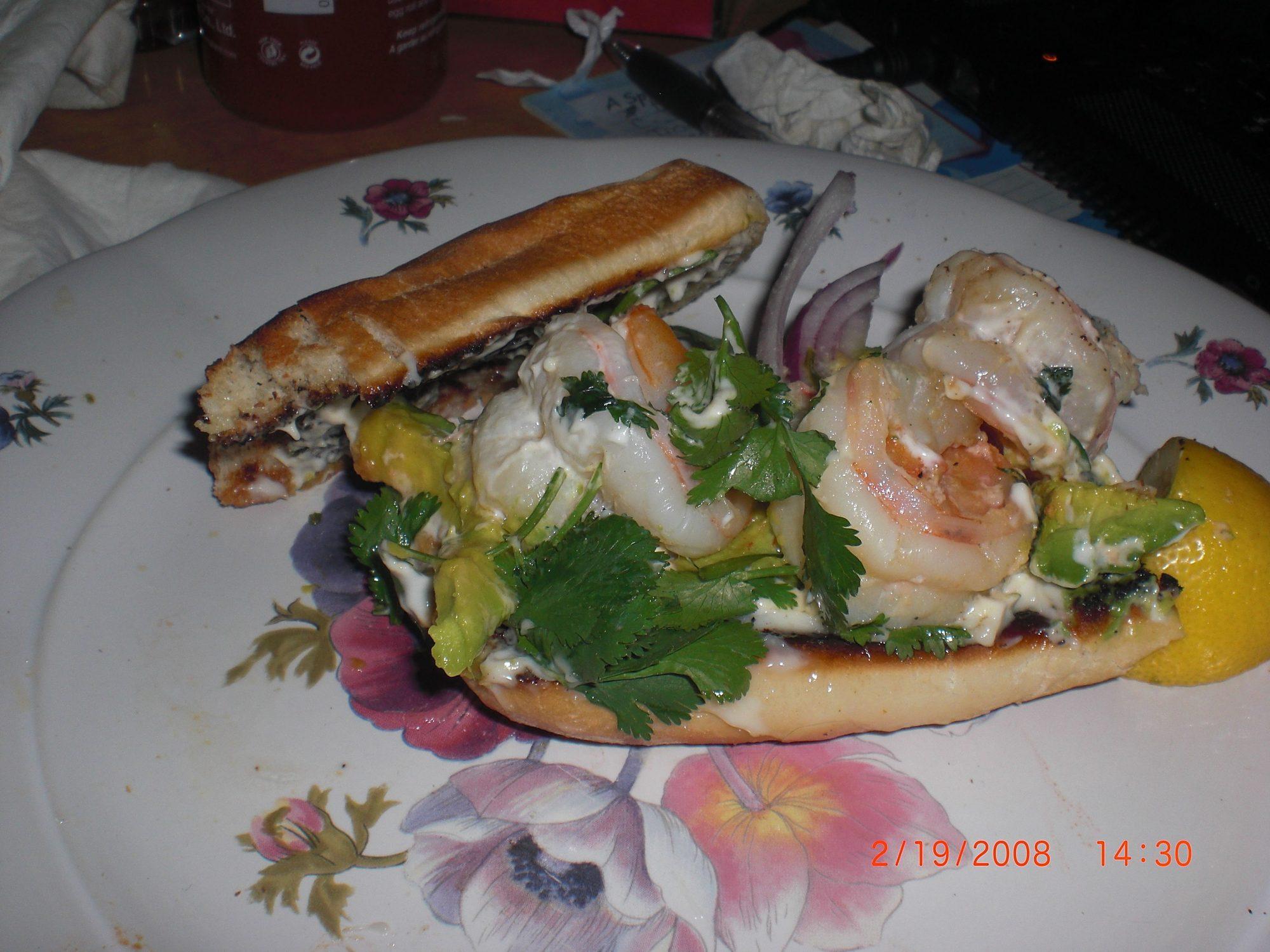 Sándwiches de camarón
