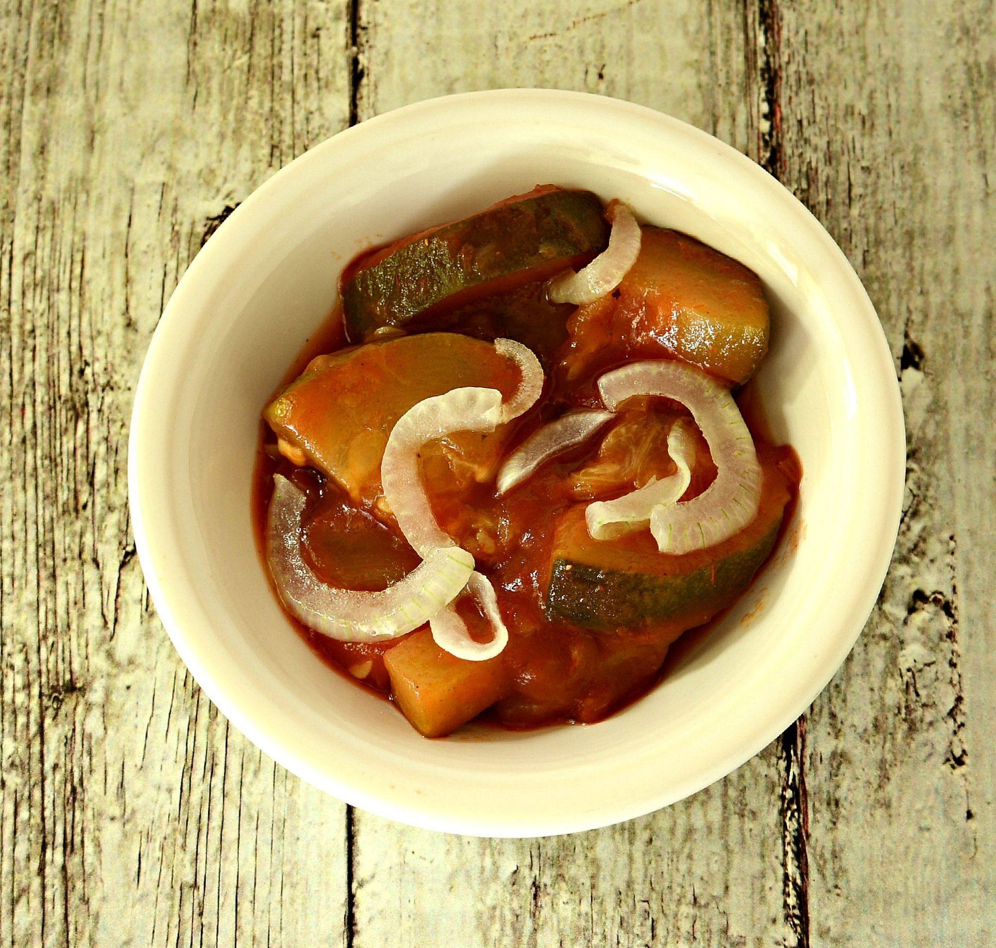 Calabacitas en salsa de jitomate