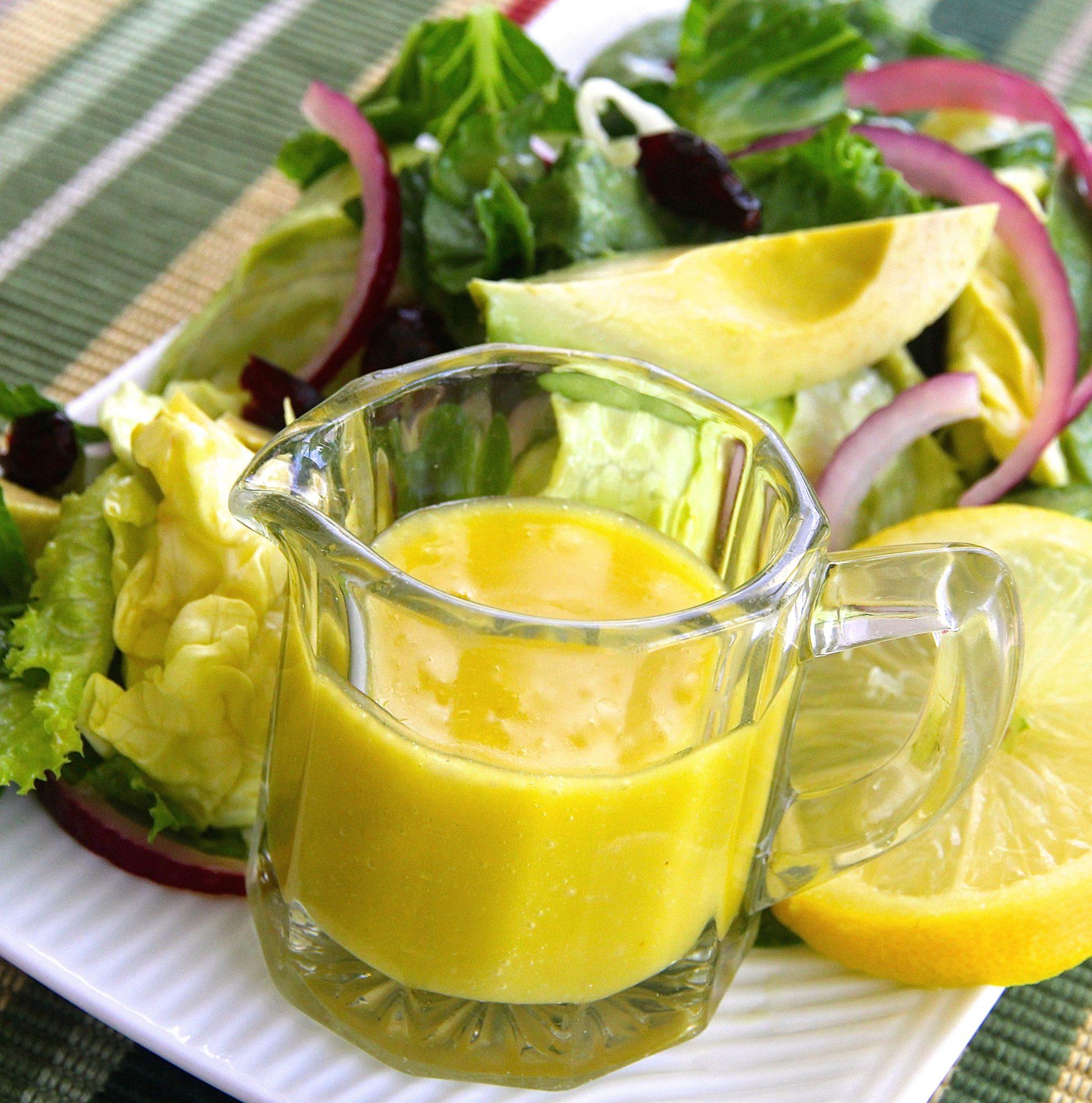 Aderezo de limón y miel