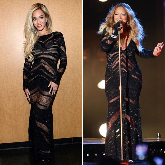 Beyoncé, Mariah Carey, dos mujeres