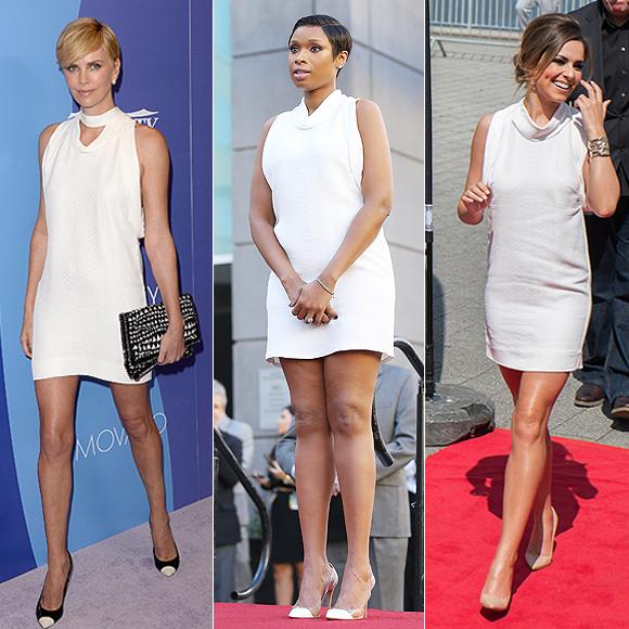 Dos mujeres un vestido, Charlize Theron, Jennifer Hudson, Cheryl Cole