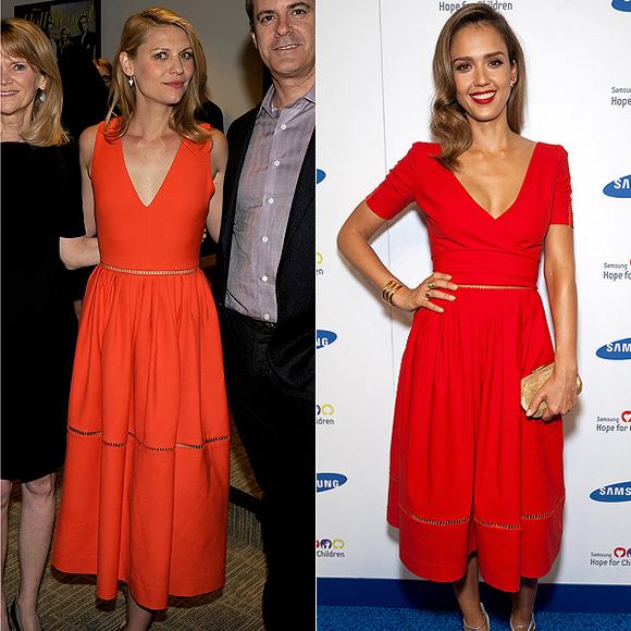 Dos mujeres un vestido, Claire Danes, Jessica Alba