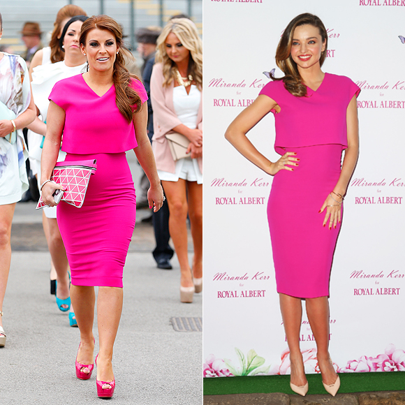 Dos mujeres un vestido, Coleen Rooney, Miranda Kerr
