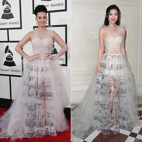 Dos mujeres un vestido, Katy Perry, Lulu Tan