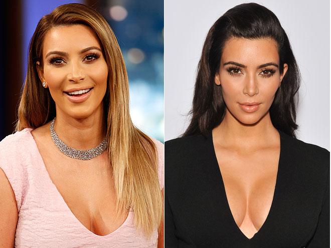 Kim Kardashian, Hair Color, Chica