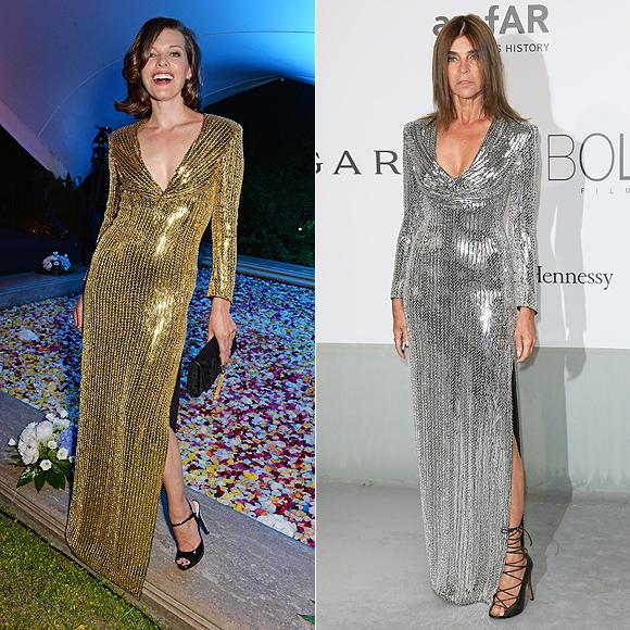 Dos mujeres un vestido, Milla Jovovich, Carine Roitfeld