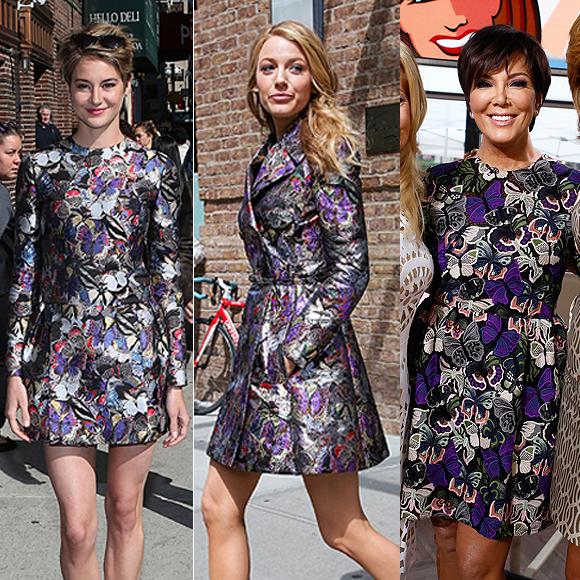 Dos mujeres un vestido, Shailene Woodley, Blake Lively, Kris Jenner