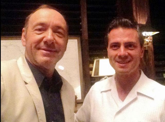 Enrique Peña Nieto, Kevin Spacey