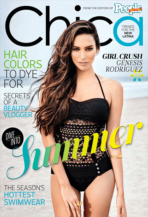 Génesis Rodríguez on the cover of our first CHICA