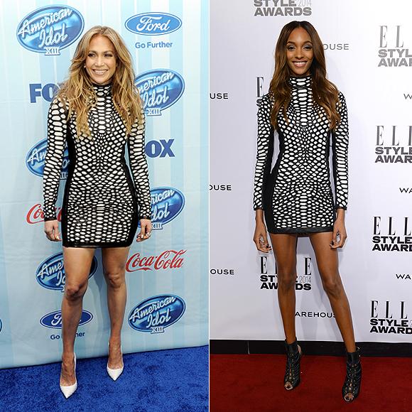 Dos mujeres un vestido, Jennifer López, Jourdan Dunn