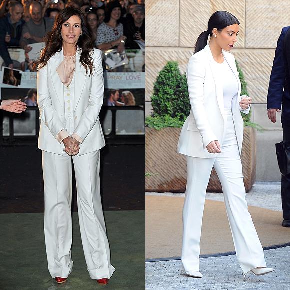Dos mujeres un vestido, Julia Roberts, Kim Kardashian