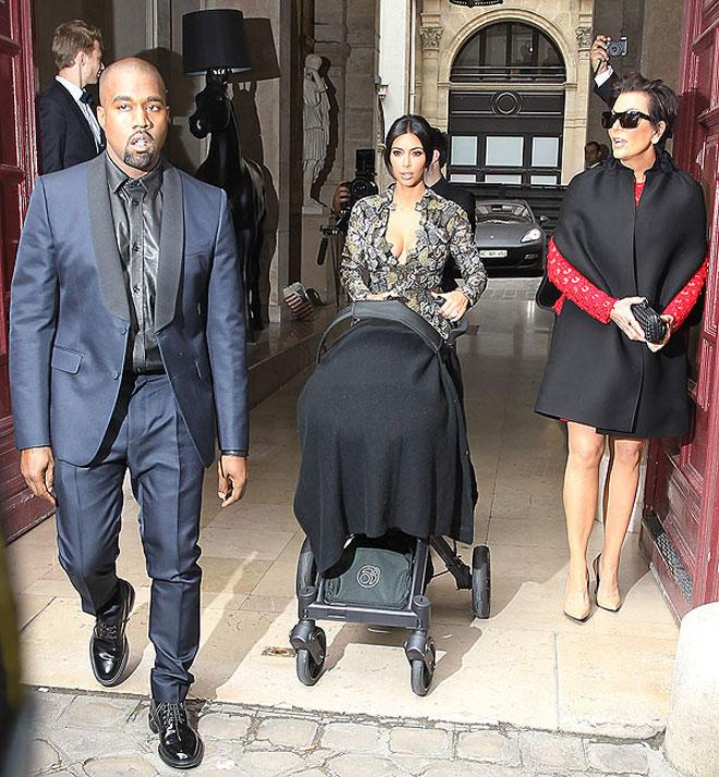 Kanye West, Kim Kardashian, North West, Kris Jenner, Míralos