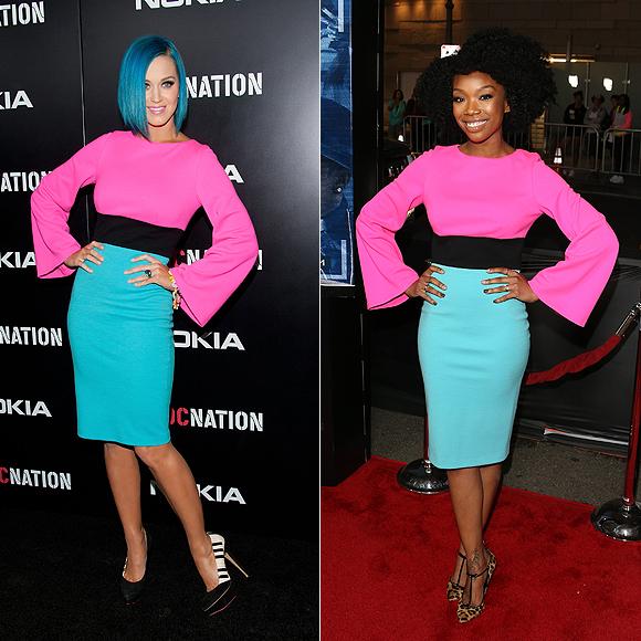 Dos mujeres un vestido, Katy Perry, Brandy Norwood