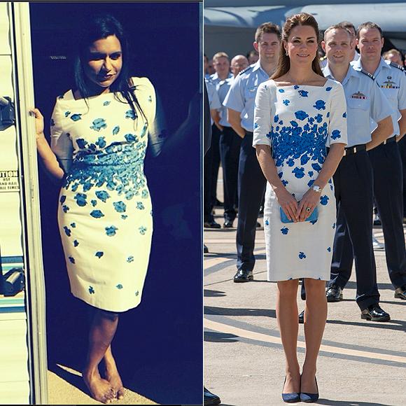 Dos mujeres un vestido, Mindy Kaling, Kate Middleton