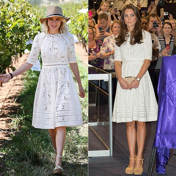 Dos mujeres un vestido, Naomi Watts, Kate Middleton