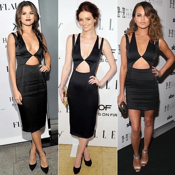 Dos mujeres, Selena Gómez, Lydia Hearst, Chrissy Teigen