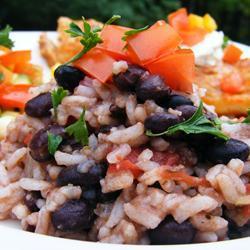 Frijoles con arroz rápidos
