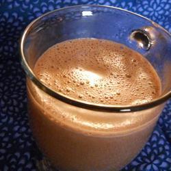 Chocolate con leche y malvaviscos