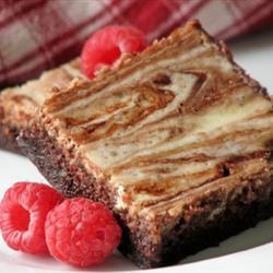 Brownies con queso crema