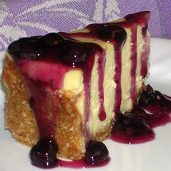 Cheesecake de chocolate blanco con moras