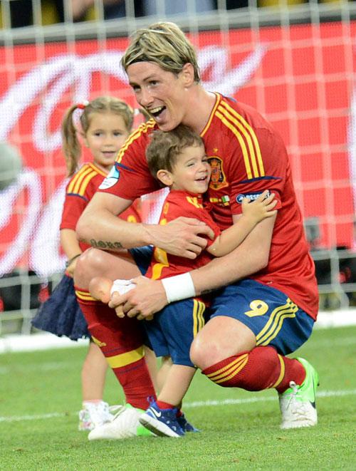 Fernando Torres, Papás futbolistas