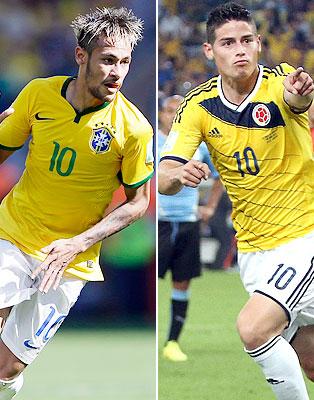Neymar Da Silva, James Rodríguez