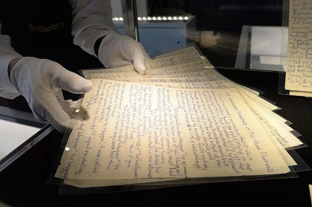 John Lennon, manuscrito, subasta