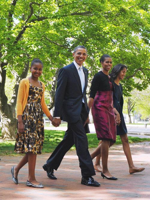 Obama y su familia