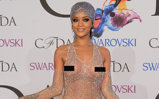 CFDA awards, Rihanna, sexy, transparencias