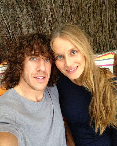 CARLES PUYOL, VANESA LORENZO, parejas futbolistas