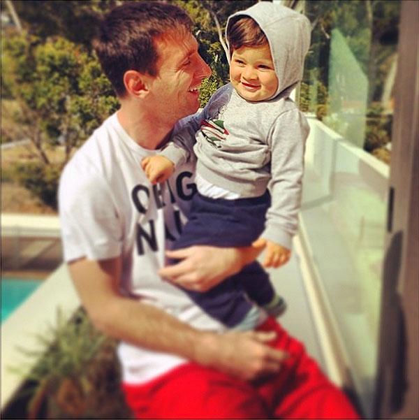 Lionel Messi, Papás futbolistas