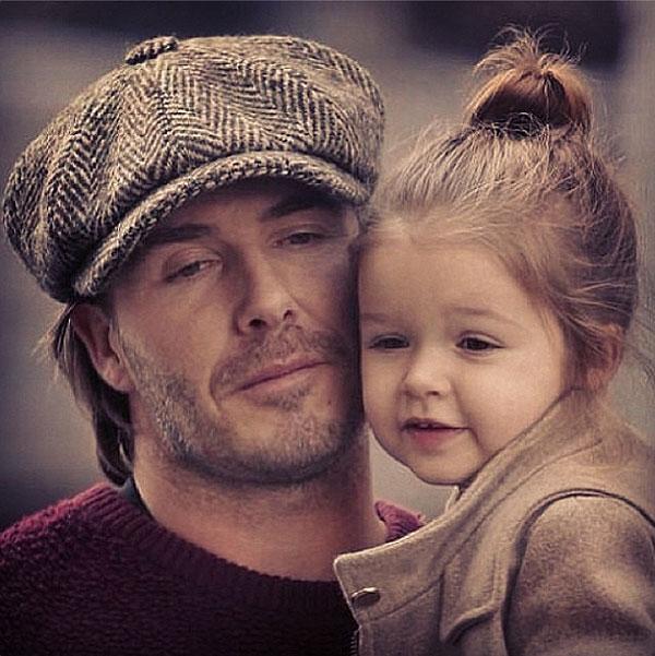 David Beckham, Harper, sin filtro