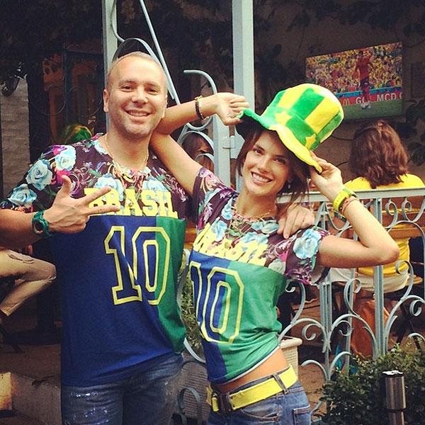 Alessandra Ambrosio, Famosos con el Mundial