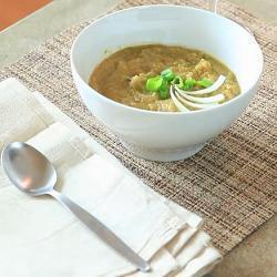 Sopa de coliflor y poro