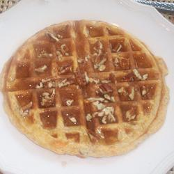Waffles de camote y nuez
