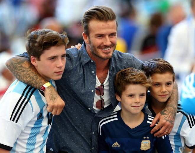 Brooklyn, Cruz y Romeo, David Beckham
