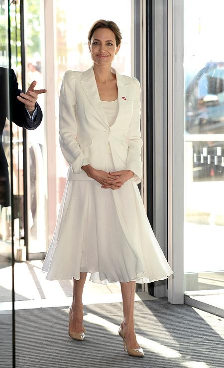 Tendencias, blanco, Angelina Jolie