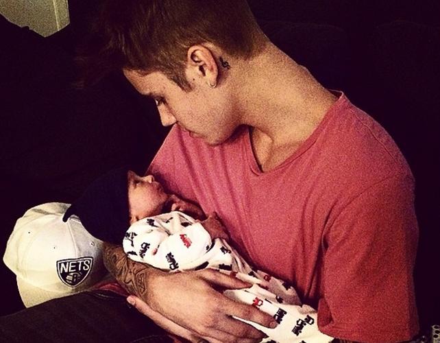 Justin Bieber con bebé
