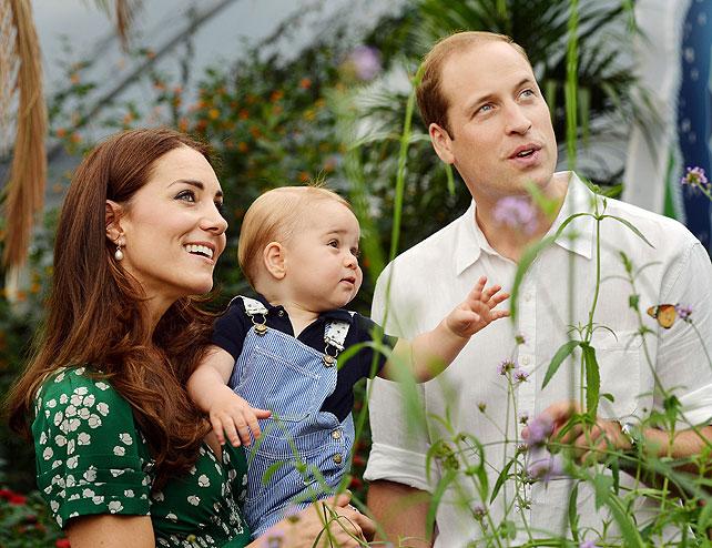 Kate Middleton, príncipe George, príncipe William