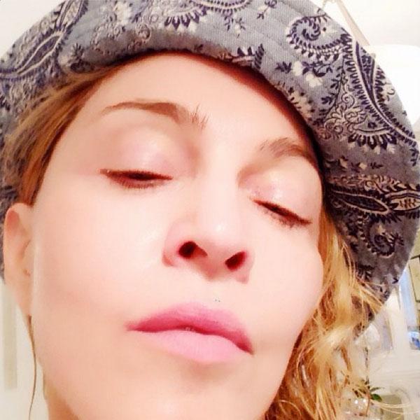 Madonna, sin maquillaje