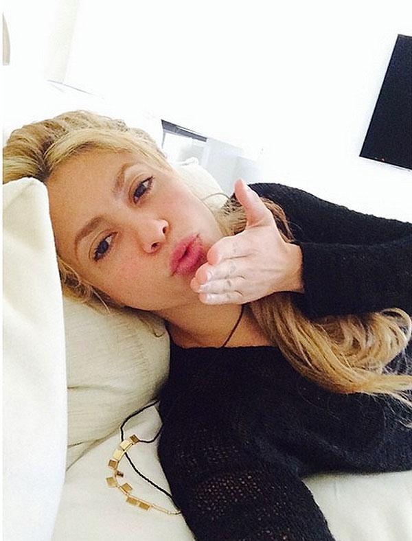 Shakira, sin maquillaje