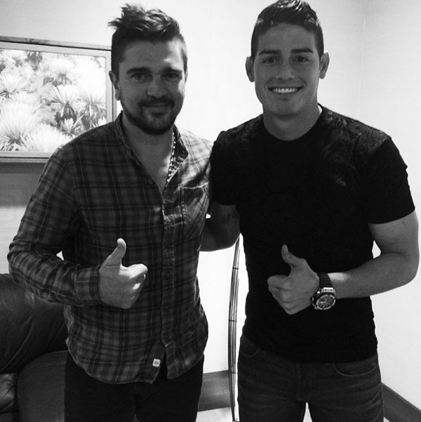 Juanes, James Rodríguez