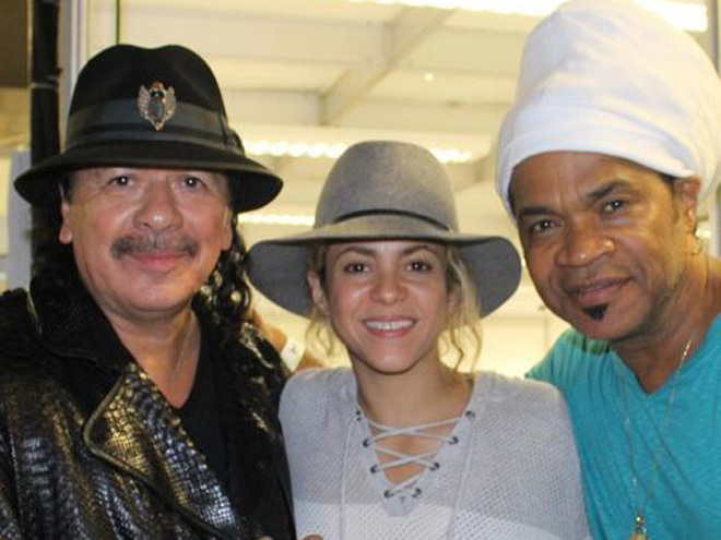 Carlos Santana y Shakira