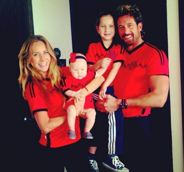 Soto y su familia
