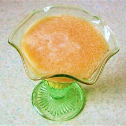 Agua fresca de melón con hielo